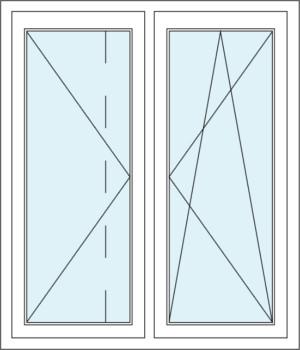 Dreh-Kipp-Funktion sowie Stulp und Zweiflügeliges Fenster mit Dreh-