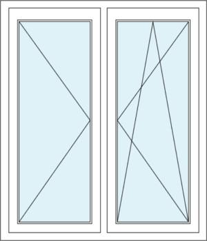Dreh-Kipp-Funktion und Zweiflügeliges Fenster mit Dreh-