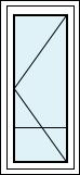 Drzwi wejściowe jednoskrzydłowe z poprzeczką - lewo