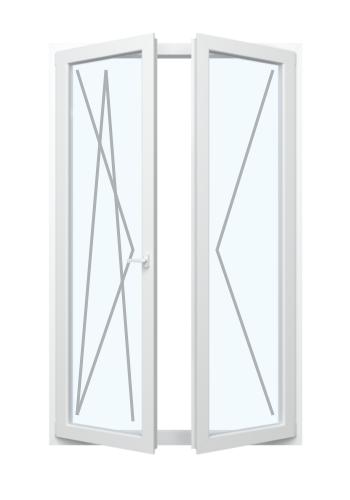 Balkontür mit Dreh-Funktion und Stulp Recht