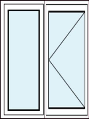 Festverglasung im Rahmen und Balkontür mit Dreh-Funktion