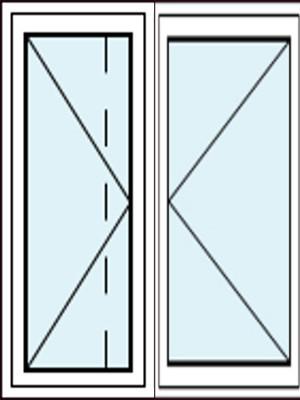 Parallelschiebekipptür mit Kipp-Flügel Links