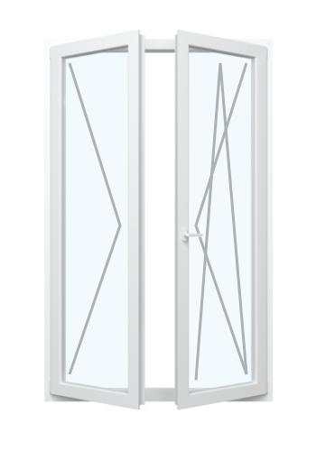 Balkontür mit Dreh-Funktion und Stulp Links